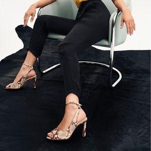 Vince Camuto Reteema sienna leather dress sandals
